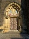 Gate church s on vyšehrad prague cze Stock Photos