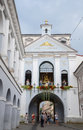 The gate of dawn ausros gate with basilica the chapel of our lady madonna ostrobramska in vilnius lithuania august Royalty Free Stock Photo