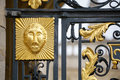 Gate decoration oxford england detail on the entrance all souls college of university Royalty Free Stock Photography