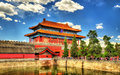 Gate of divine might in the forbidden city beijing northern china Stock Photo