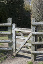 A gate on a footpath Royalty Free Stock Photography