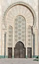 Gate of the Hassan II Mosque Casablanca Morocco Royalty Free Stock Photo