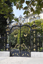 Gate of an historic Building in Paris Royalty Free Stock Images