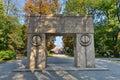 Picture taken at September 1, 2017 of `The Gate of Kiss` at Targu-Jiu, Romania. Royalty Free Stock Photo