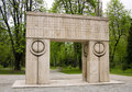 Gate of the Kiss, sculpture of Constantin Brancusi Stock Photos