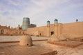 The gate of Kunya Ark Palace and the tandoors in Ichan Kala in Khiva city, Uzbekistan