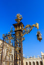 Gate with lantern Stanislas Nancy Royalty Free Stock Photos