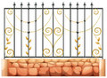 A gate made of pointed steel illustration on white background Royalty Free Stock Photo