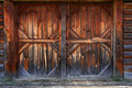 Gate of old barn Stock Photos