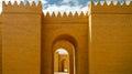 Gate of partially restored Babylon ruins, Hillah Iraq Royalty Free Stock Photo