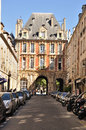Gate of Place des Vosges - Paris Stock Photos