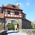 Gate of rothenburg old town ob der tauber germany Royalty Free Stock Photography