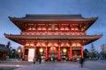 Gate at Senso-ji Temple, Asakusa, Tokyo, Japan Stock Images