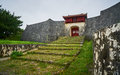 Gate of Shuri Castle and steps