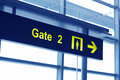 Gate sign in an airport Royalty Free Stock Image
