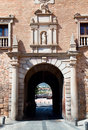 Gate on Square Plaza de San Martin, Toledo, Spain. Royalty Free Stock Photography