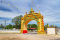 Gate to the of buddhism temple Stock Photography