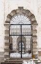 Gate to churchyard Royalty Free Stock Photo