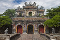 Gate to a citadel in hue vietnam is enlisted unesco's world heritage sites Stock Photography