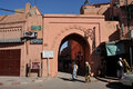 Gate to the Medina in Marrakesh Royalty Free Stock Images