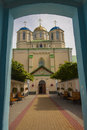 Gate to Ostroh Monastery - Ukraine. Royalty Free Stock Photography