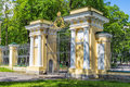 Gate to the Palace Garden of the Kamennoostrovsky Palace Royalty Free Stock Photo