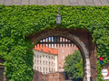 Gate to  royal castle, Krakow, Poland Stock Photo
