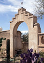 Gate to San Xavier del Bac Spanish Mission Royalty Free Stock Photo