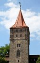 Gate tower tiergartnertor in nuremberg germany Stock Image