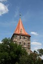 Gate tower tiergartnertor in nuremberg germany Royalty Free Stock Photography