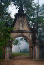Gate at Wat Bo Royalty Free Stock Images