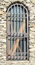 A gated door locked up and doorway Royalty Free Stock Photos