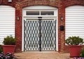 Gated French doors Royalty Free Stock Photo