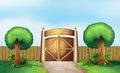 A gated park illustration of Royalty Free Stock Photography