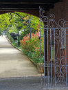 Gated secret garden Royalty Free Stock Photo