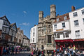 The Gates of Canterbury Cathedral and Buttermarket. Royalty Free Stock Photo