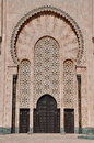 Gates of the the hassan ii mosque located in casablanca is largest morocco and third largest world Stock Photography
