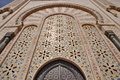 Gates of the the hassan ii mosque located in casablanca is largest morocco and third largest world Royalty Free Stock Photography