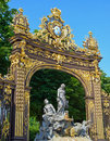 Gates in historical center of nancy decorative from place stanislas france after restoration Royalty Free Stock Photo