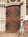 Gates Kotka Cathedral. Finland Stock Photography
