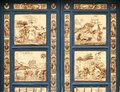 Gates of paradise at the baptistery florence ita fragment italy image assembled from few frames Stock Images