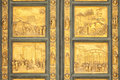 Gates of Paradise biblical scenes detail, Florence Royalty Free Stock Photo