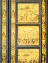 Gates of Paradise detail, Florence Baptisery, Italy Royalty Free Stock Photo