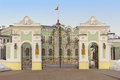 Gates of Presidential Palace in Kazan Kremlin Stock Photo
