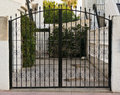 Gates in spain black wrought iron Royalty Free Stock Photos