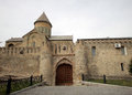 Gates of Svetitskhoveli Cathedral in Mtskheta. Royalty Free Stock Photo
