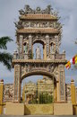 Gates into the temple of the buddha vietnam muine phanthiet travel to interesting place Royalty Free Stock Image