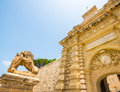 Gates to the city of mdina in malta Royalty Free Stock Image