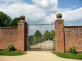 Gates To Walled Garden Royalty Free Stock Photography