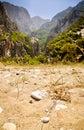 Gates to wild valley from Megalo Seitani beach, Samos Royalty Free Stock Photo